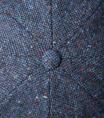 Bates Gentleman's Hatter Gatsby Cap - Magee Donegal Tweed - Navy Division Road
