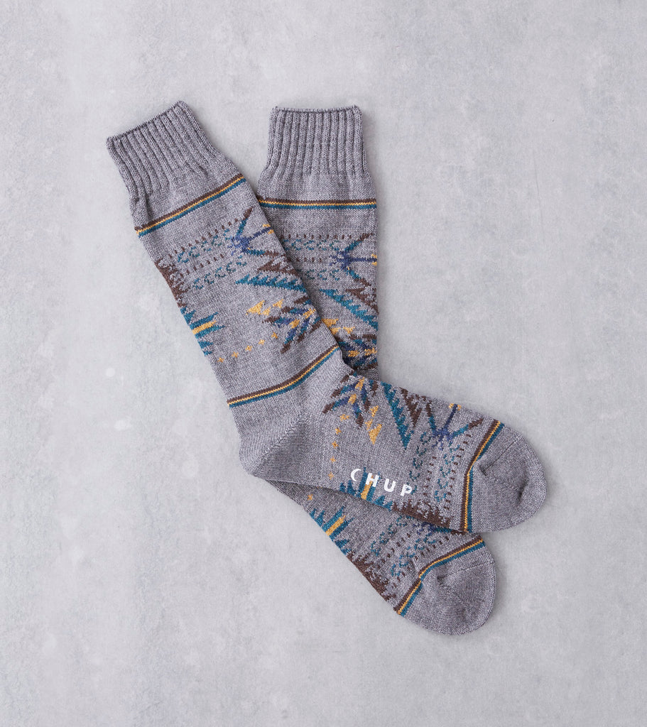 Chup Socks - Q'oa - Flint Grey Division Road