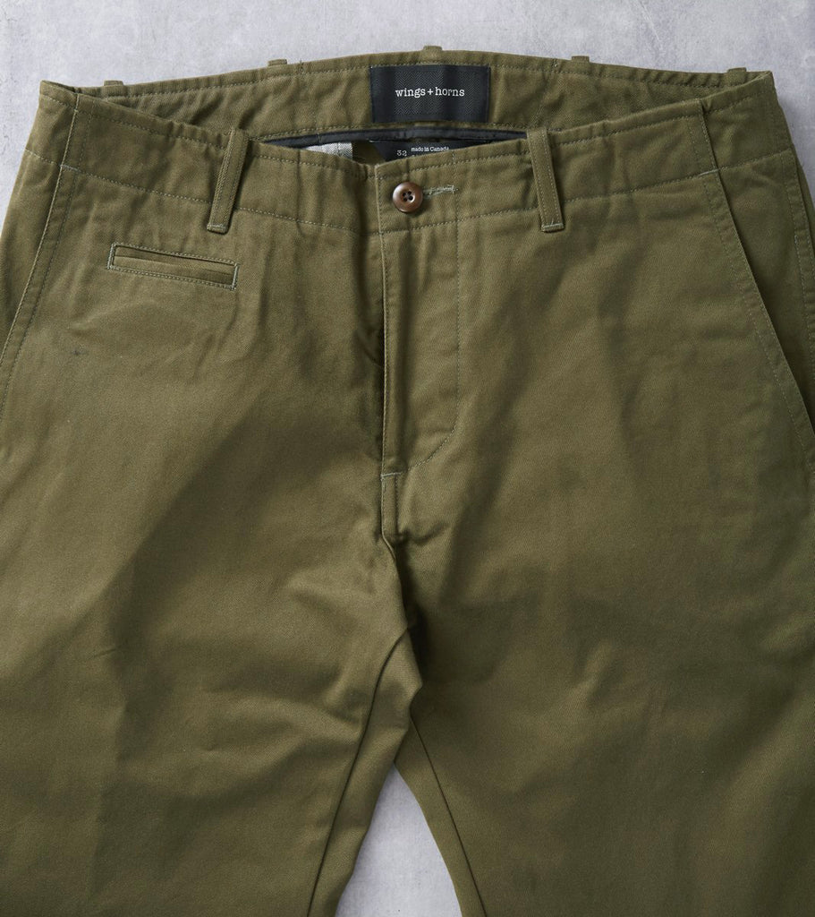 Division Road wings+horns Westpoint Chino - Olive