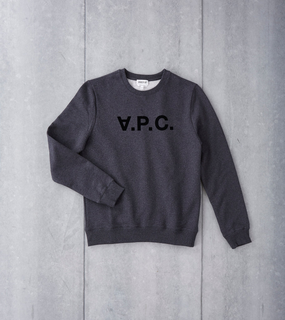A.P.C. VPC Sweatshirt - Heather Charcoal Division Road