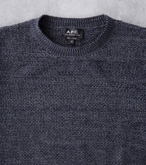 A.P.C. Murrow Sweater Charcoal NavyDivision Road