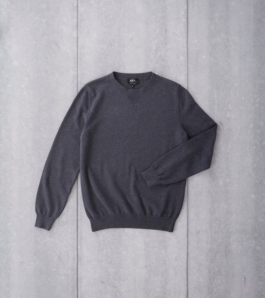 A.P.C. Connors Sweater Charcoal Division Road