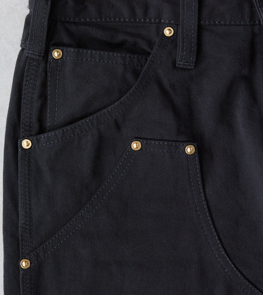 Iron Heart x Division Road AWC 602DR Tradesman - Classic Tapered Double Front - 11oz Black Selvedge Twill