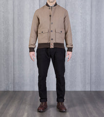 AAP Bomber Jacket - Khaki Wool Allied Archive Project Division Road Private White
