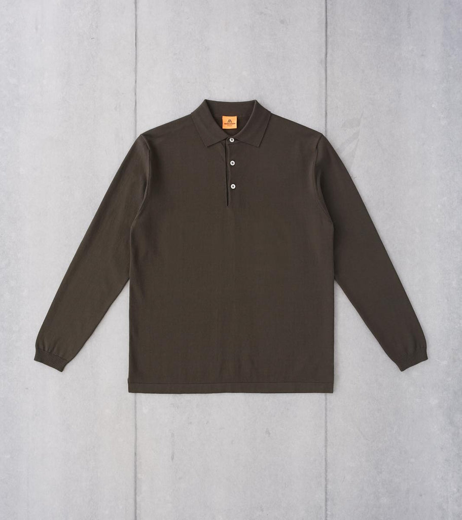 Division Road Andersen-Andersen Long Sleeve Polo - Hunting Green