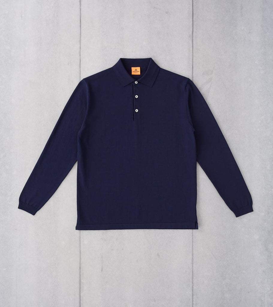 Division Road Andersen-Andersen Long Sleeve Polo - Royal Blue