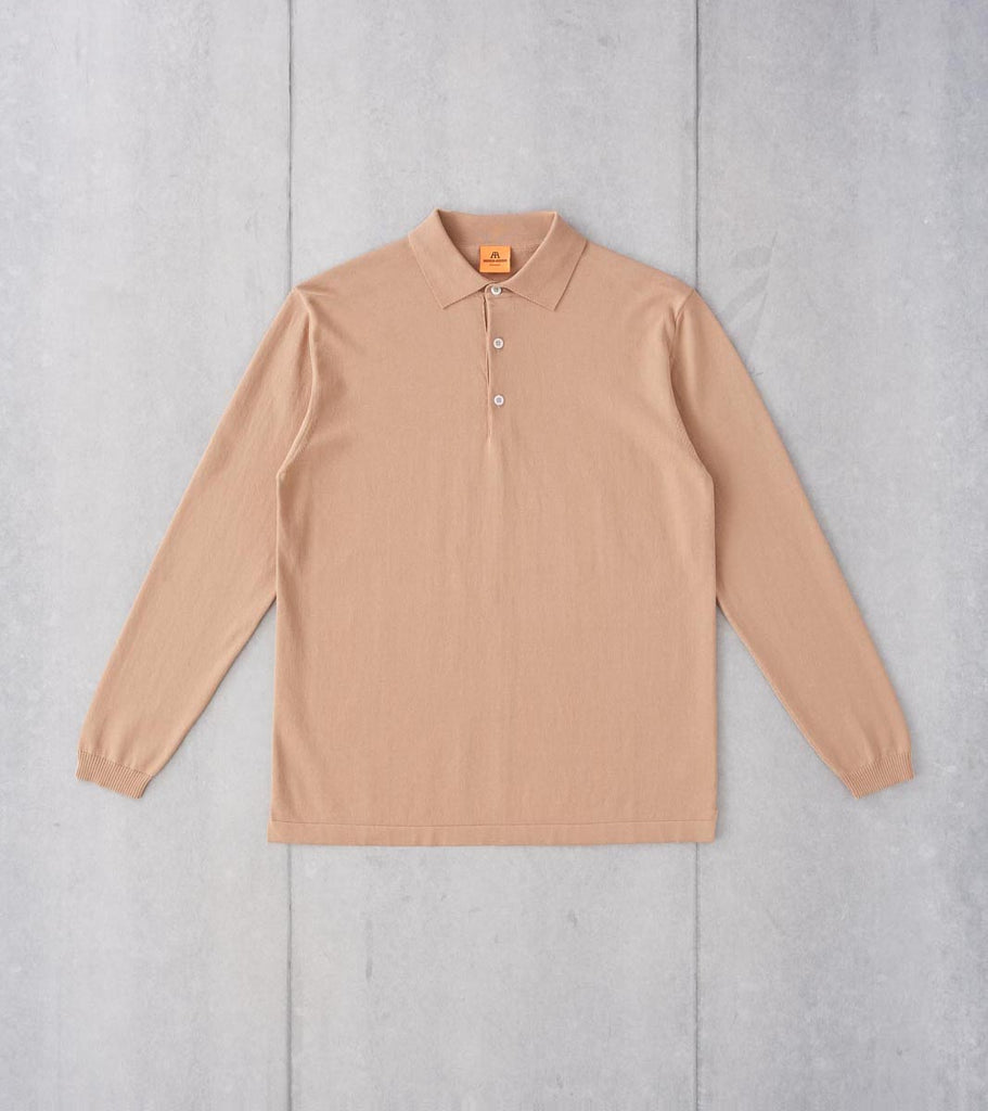 Division Road Andersen-Andersen Long Sleeve Polo - Camel