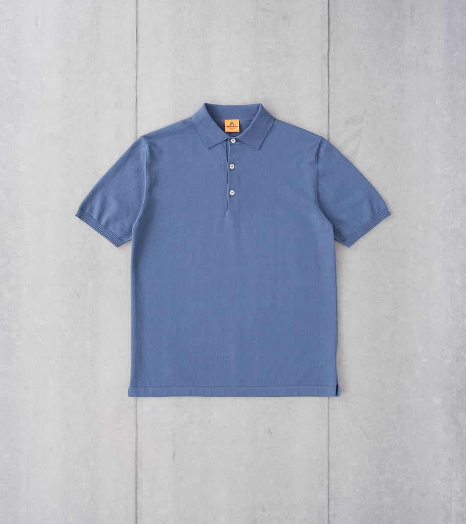 Division Road Andersen-Andersen Short Sleeve Polo - Petroleum