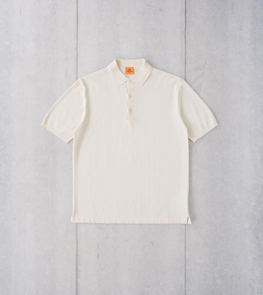Division Road Andersen-Andersen Short Sleeve Polo - Off-White
