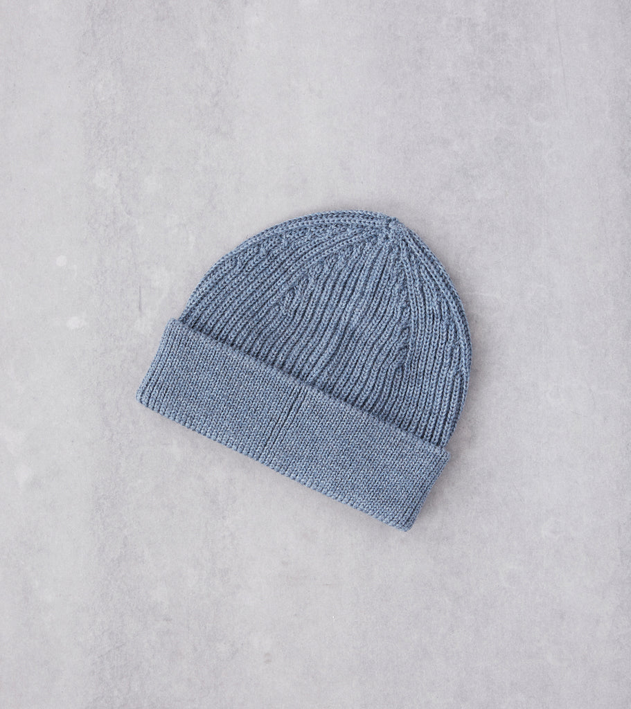 Division Road Andersen-Andersen Medium Knit Beanie - Light Indigo