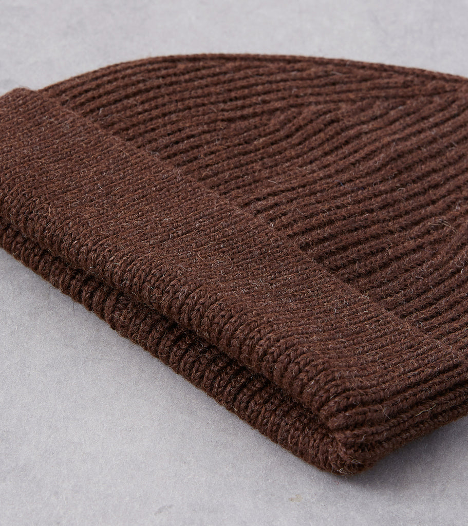 Division Road Andersen-Andersen Medium Knit Beanie - Natural Brown
