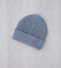 Division Road Andersen-Andersen Classic Knit Beanie - Light Indigo