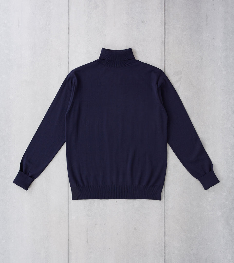 Division Road Andersen-Andersen Light Wool Turtleneck - Navy