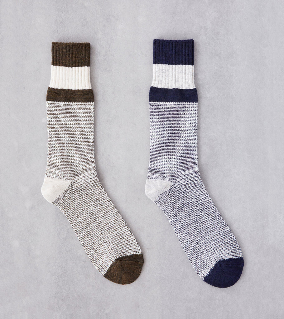 Division Road Anonymous Ism Moss Stitch Jacquard Crew Sock