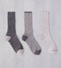 Division Road Anonymous Ism American Nep Rib 3 Pack Crew - Grey