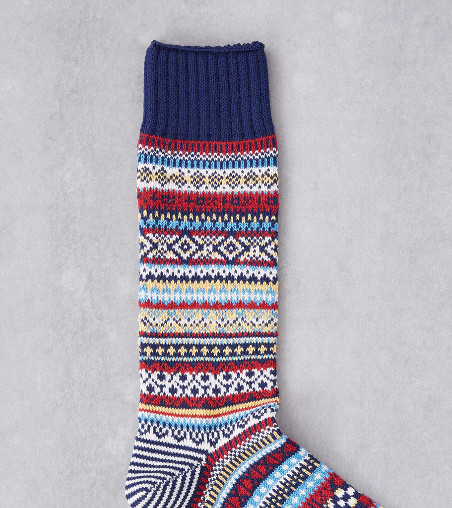 Division Road Chup Socks - Baile - Ink Blue