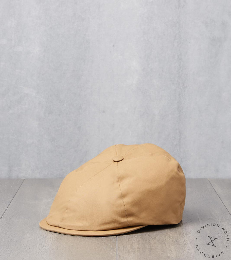 Division Road Bates Gentleman's Hatter Toni Cap - British Millerain Dry Waxed Canvas Camel