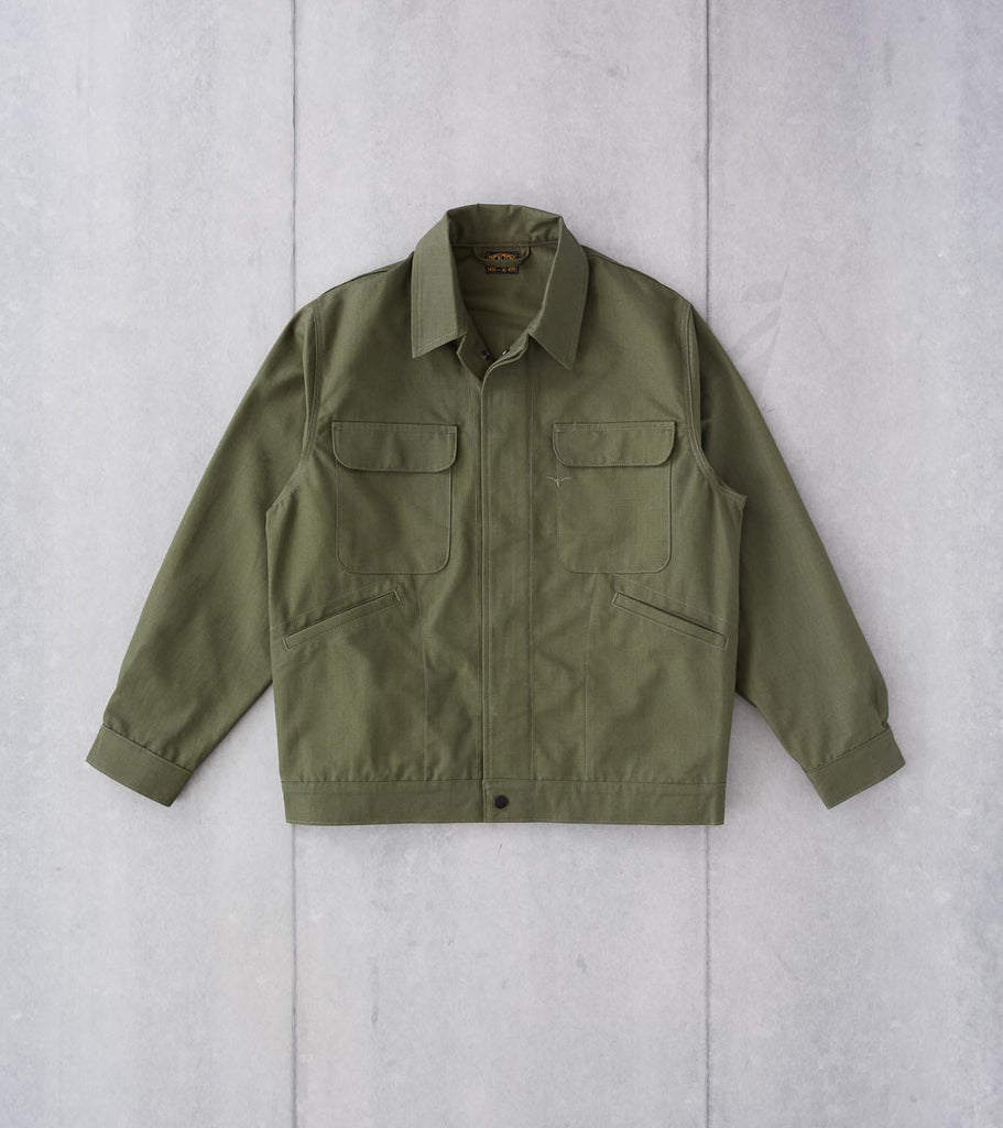 Division Road Benzak BRJ-01 - Commuter Jacket - 10oz Forest Green Ripstop