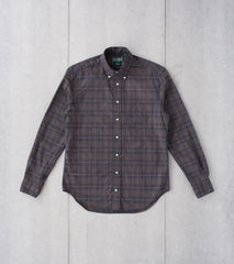 Division Road Gitman Vintage Beefy Poplin Check - Charcoal