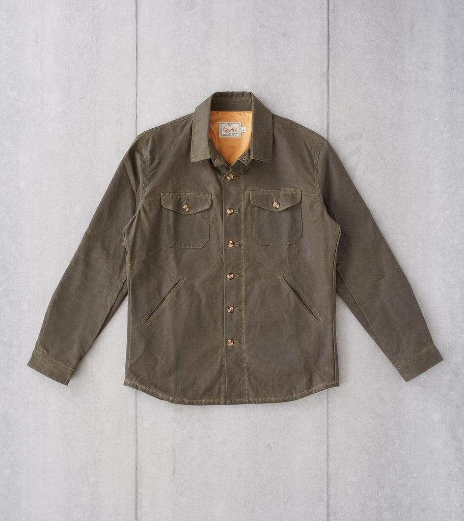 Division Road Dehen 1920 Crissman Overshirt - 8.25oz Waxed Canvas - Loden