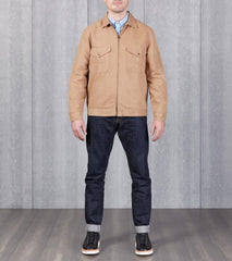 Division Road Dehen 1920 Mechanics Jacket - Brisbane Moss® Duck Canvas - Tan & Black