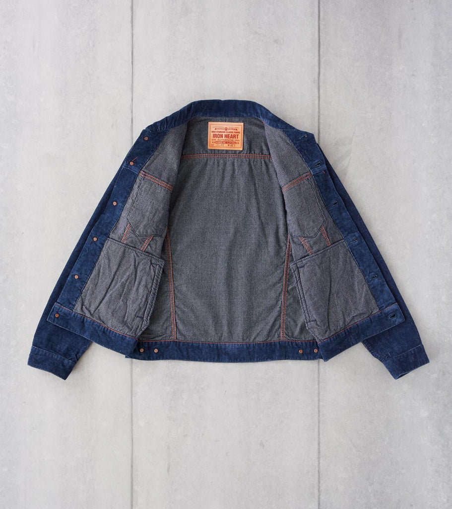 Division Road Iron Heart 82-J - Modified Type III - 14w Corduroy Indigo