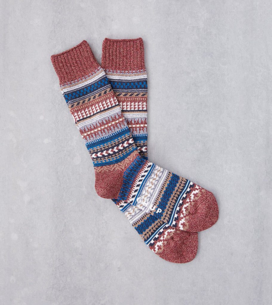 Division Road Chup Socks - Butte - Brick