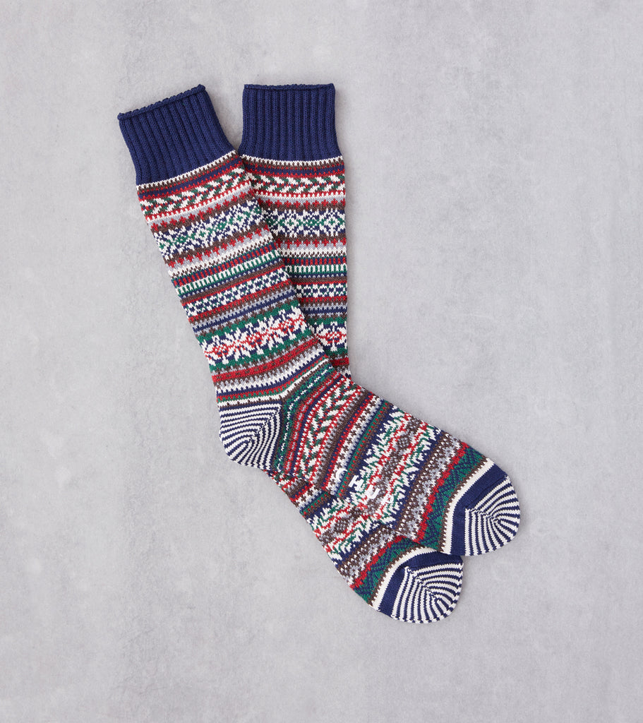 Division Road Chup Socks - Bothar - Space Blue