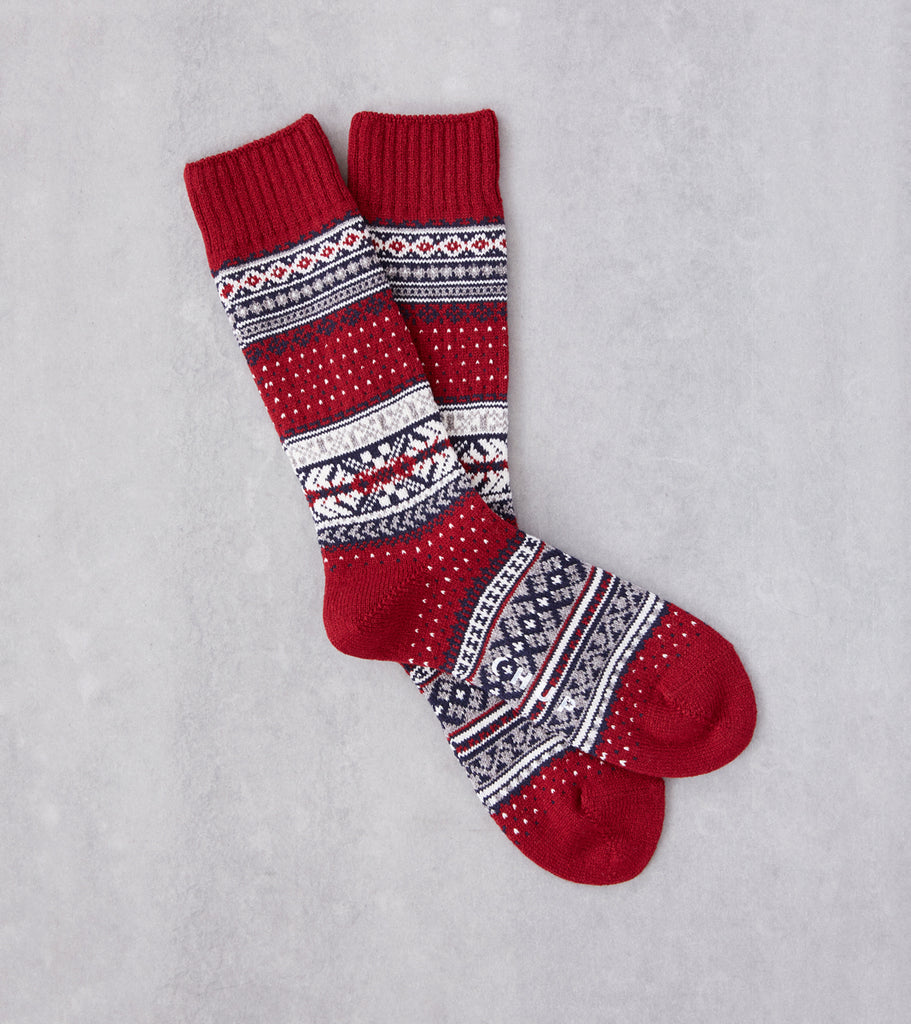 Division Road Chup Socks - Ceret - Crimson