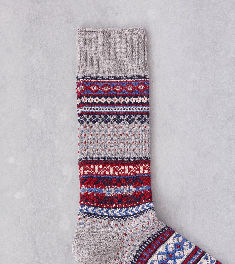 Division Road Chup Socks - Ceret - Ghost