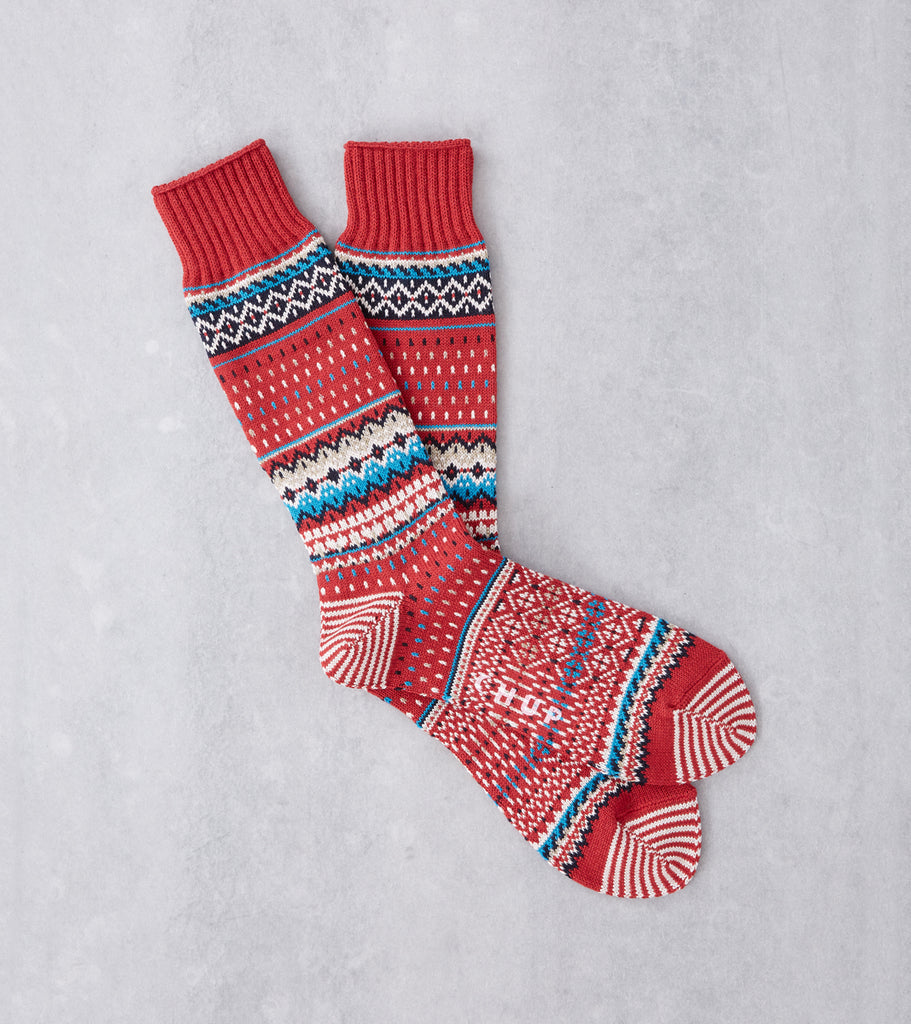 Chup Socks - Viti - Crimson Division Road