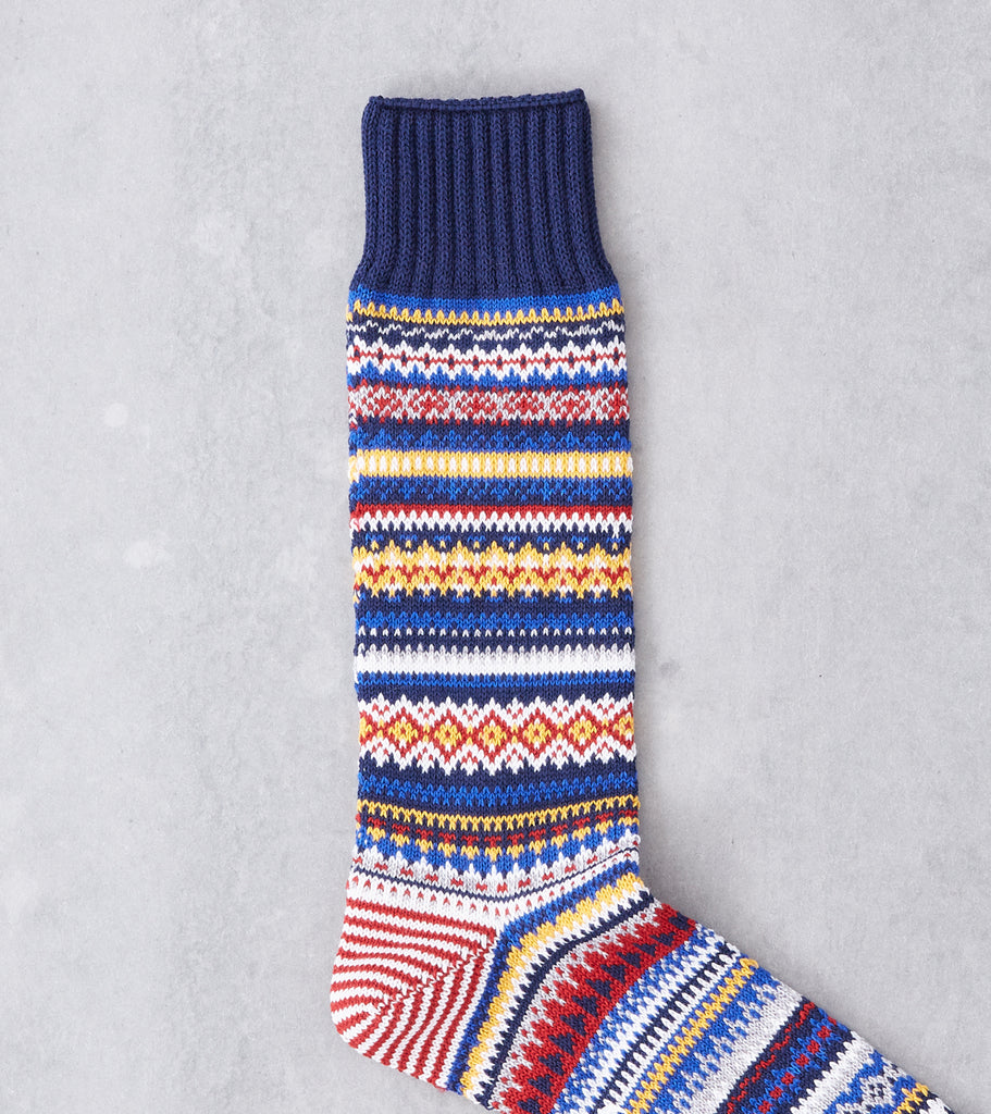 Chup Socks - Porvoo - Space Blue Division Road