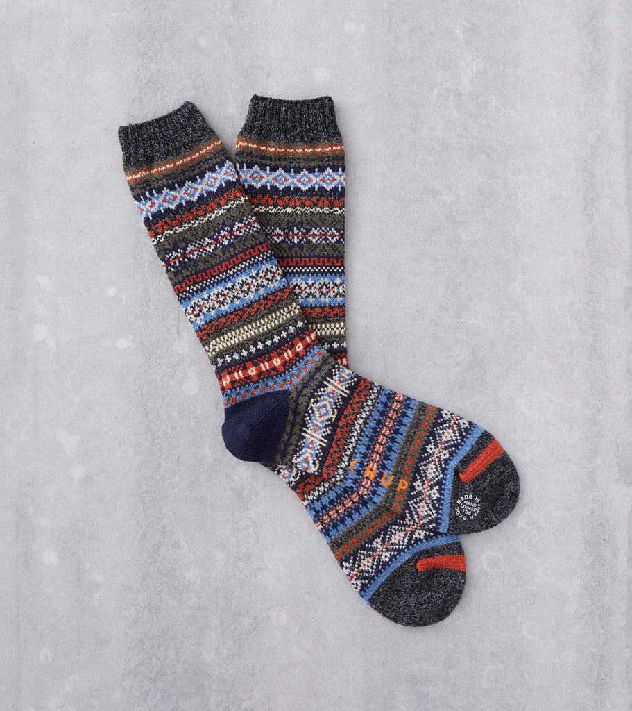 Chup Socks - Northern Lights -Charcoal Division Road