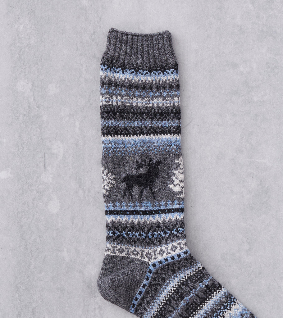 Chup Socks - Kaamos - Charcoal Division Road