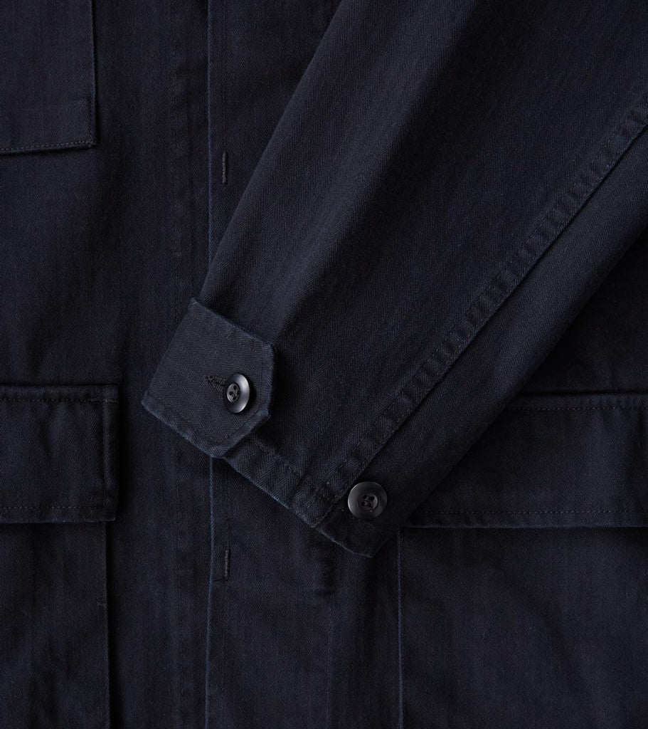 Division Road Corridor NYC M41 - Herringbone Twill - Washed Black