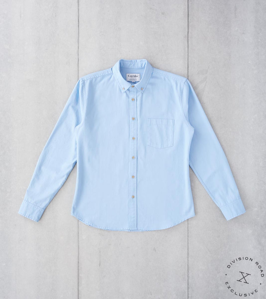 Division Road Corridor NYC x DR Japanese Overdyed Oxford - Sky Blue