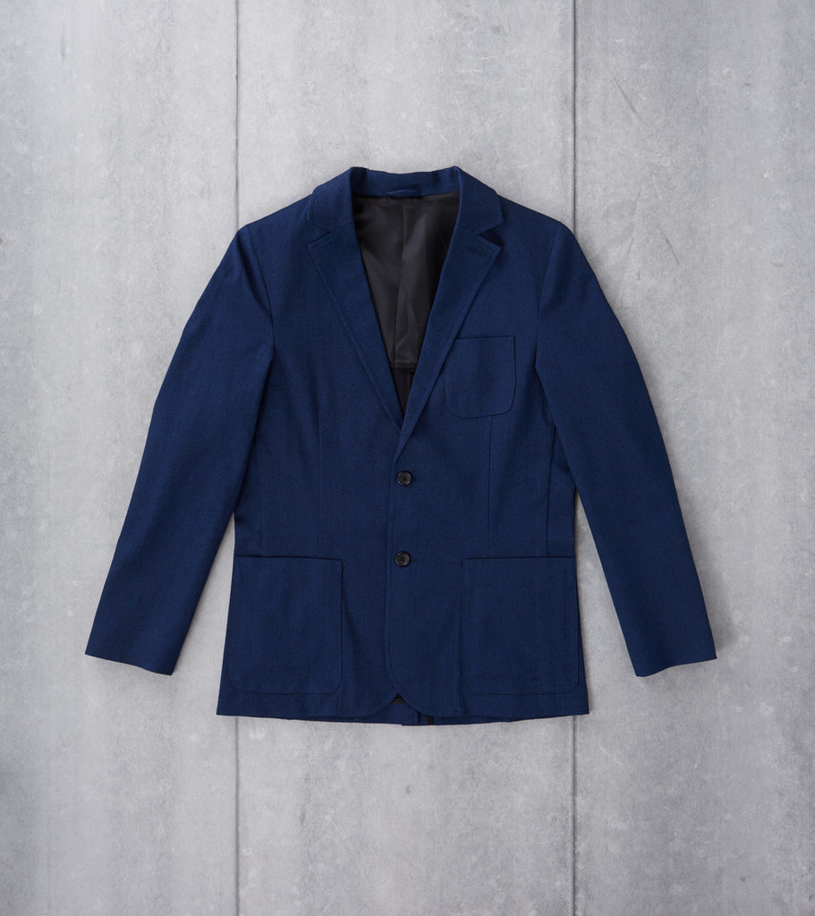 Stretch Cotton Blazer - Indigo