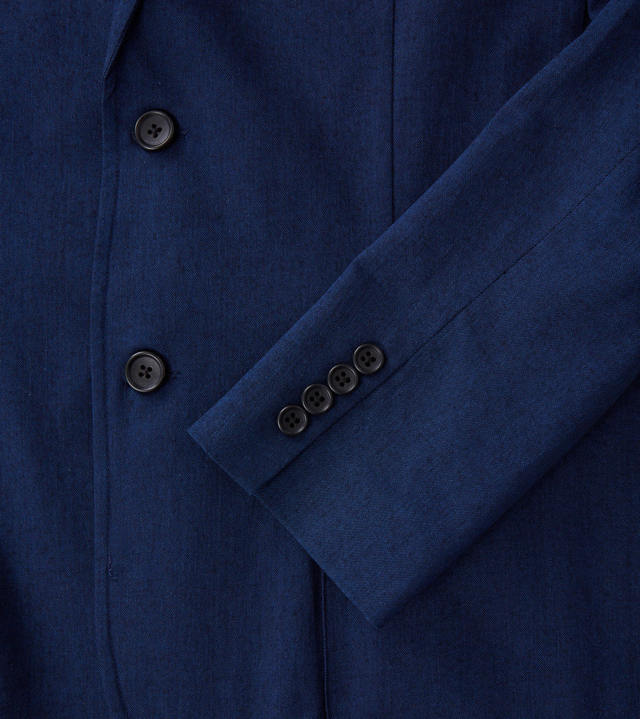 Corridor NYC Indigo Stretch Cotton Blazer Division Road