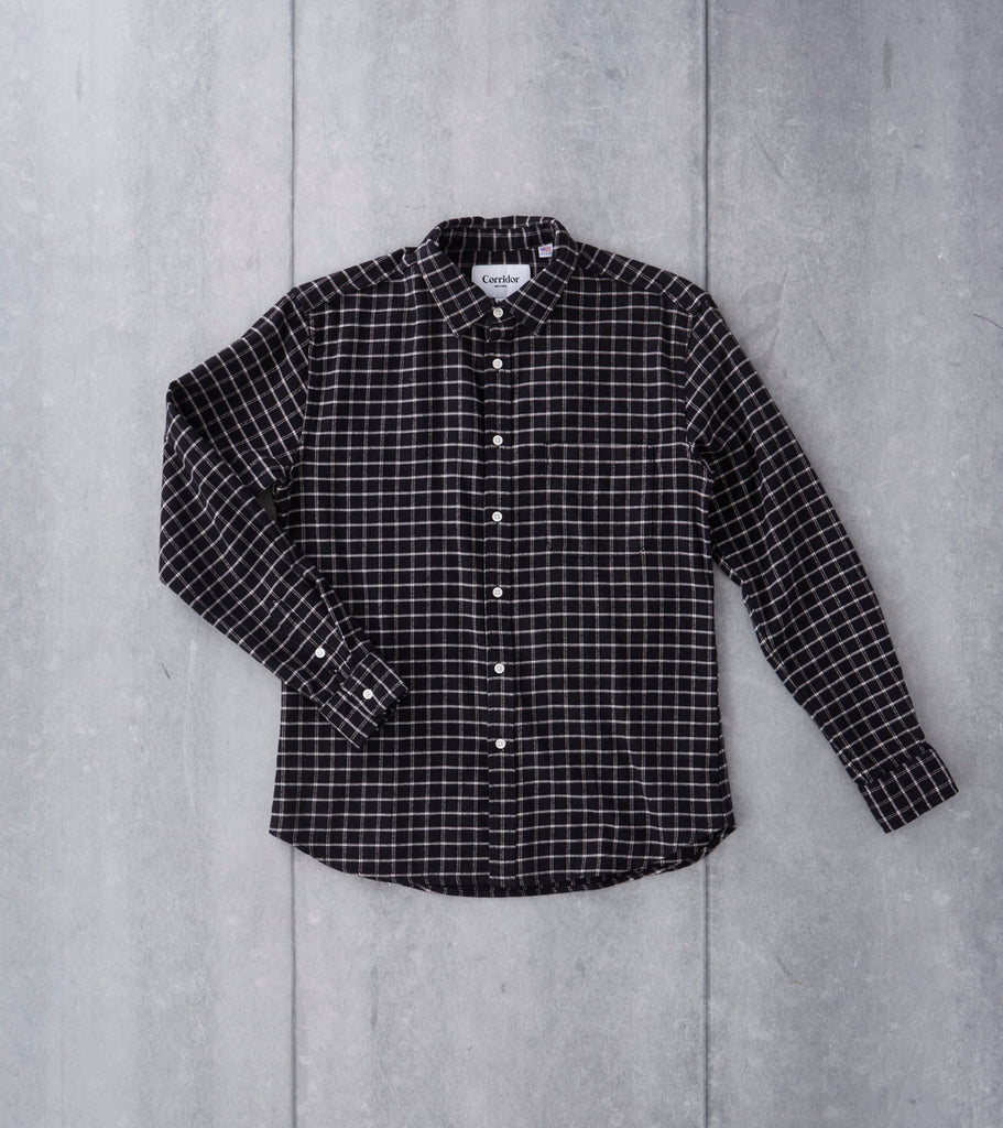 Wool Blend Check - Black