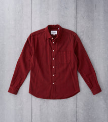 Corridor NYC Brushed Flannel - Red Division Road