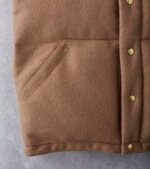 Crescent Down Works Italian Vest - Pendleton® Melton Wool - Camel
