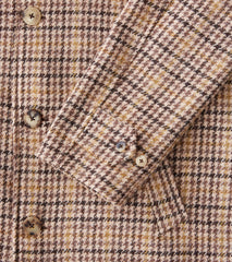 Division Road De Bonne Facture x DR Harris Tweed Wool Loden Coat - Brown Houndstooth