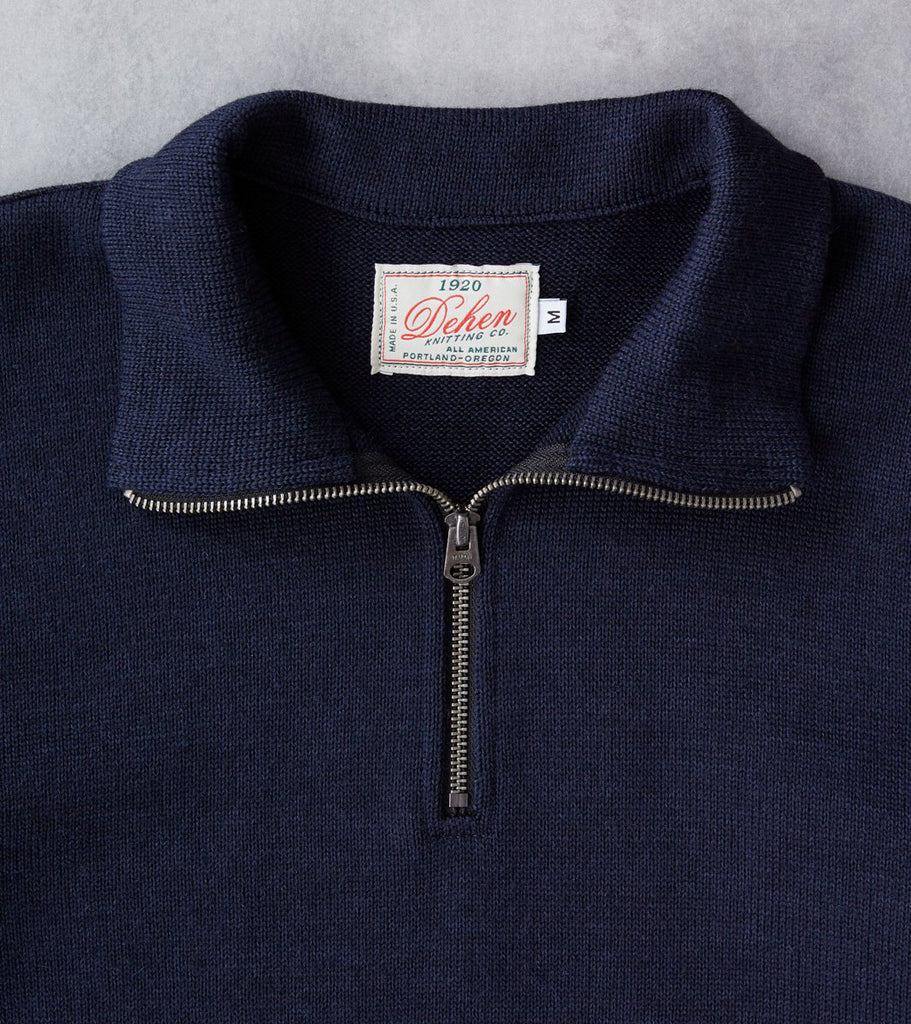 Division Road Dehen 1920 Zip Moto Jersey Sweater - Navy