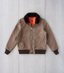 Division Road Dehen 1920 x DR Flyers Club Jacket - 10oz Waxed Army Duck - Dark Tan