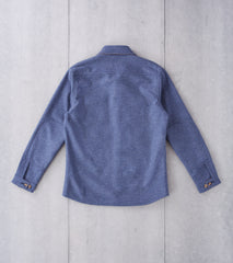 Dehen 1920 Crissman Overshirt - Moon® Melton Wool - Blue Mix Division Road