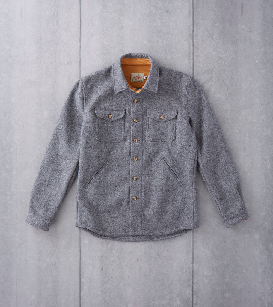Edit website SEO Dehen 1920 Crissman Overshirt - Pendleton® Melton Wool - Grey Division Road