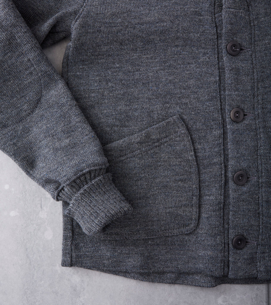Dehen 1920 Shawl Cardigan - Charcoal Division Road