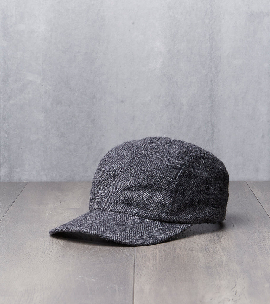 Allied Archive Project 5 Panel Cap - Charcoal Herringbone Wool - Woolrich Woolen Mills® Ebbets Division Road