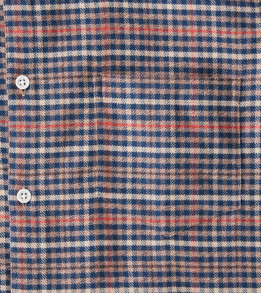 Division Road Freemans Sporting Club CS-1 Shirt - Plaid Flannel - Brown