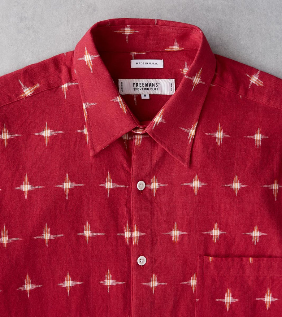 Division Road Freemans Sporting Club CS-1 Shirt - Red Ikat